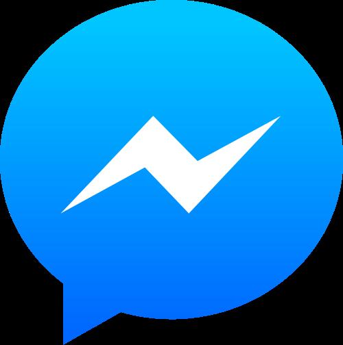 Knop om een Facebook Messenger bericht te sturen